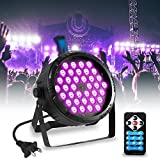 SOLMORE UV Black Light for Parties 36W 36LEDs Par Stage Lighting Sound Activated DJ Blacklight for Disco Party Wedding Birthday Show (with Remote)