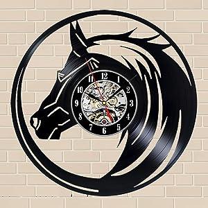 Horse Gift Wall Clock Vinyl Record Art Decor Vintage