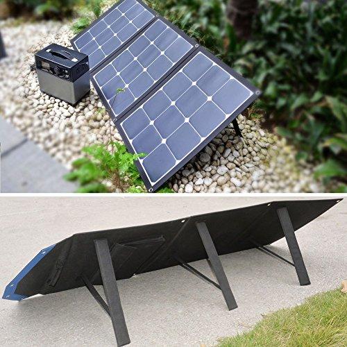 ACOPOWER 12V 105W Portable Solar Panel; Foldable Suitcase for Solar Generator 12V Battery w SUNPOWER Cell (Solar Panel)