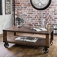Furniture of America Royce Living Room Modern Industrial Wood Coffee Table / End Table
