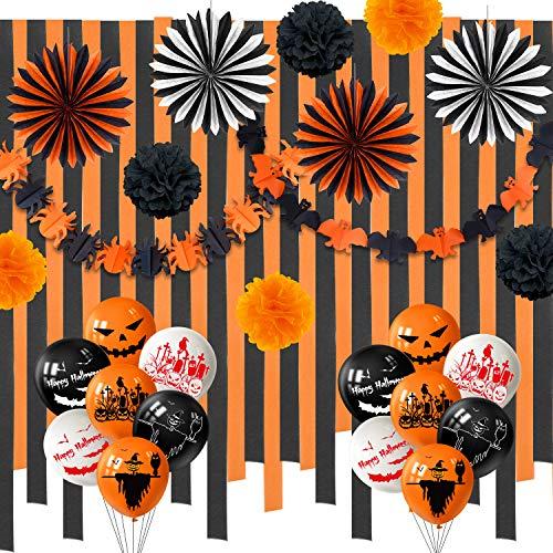 orange and black streamers - 3
