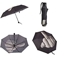 Kicode Personality Folding Erect Middle Finger Umbrella Emotional Umbrella