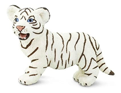 White Bengal Tiger Baby 6 Cm Series Wild Animals Safari Ltd 295029 Action Figures