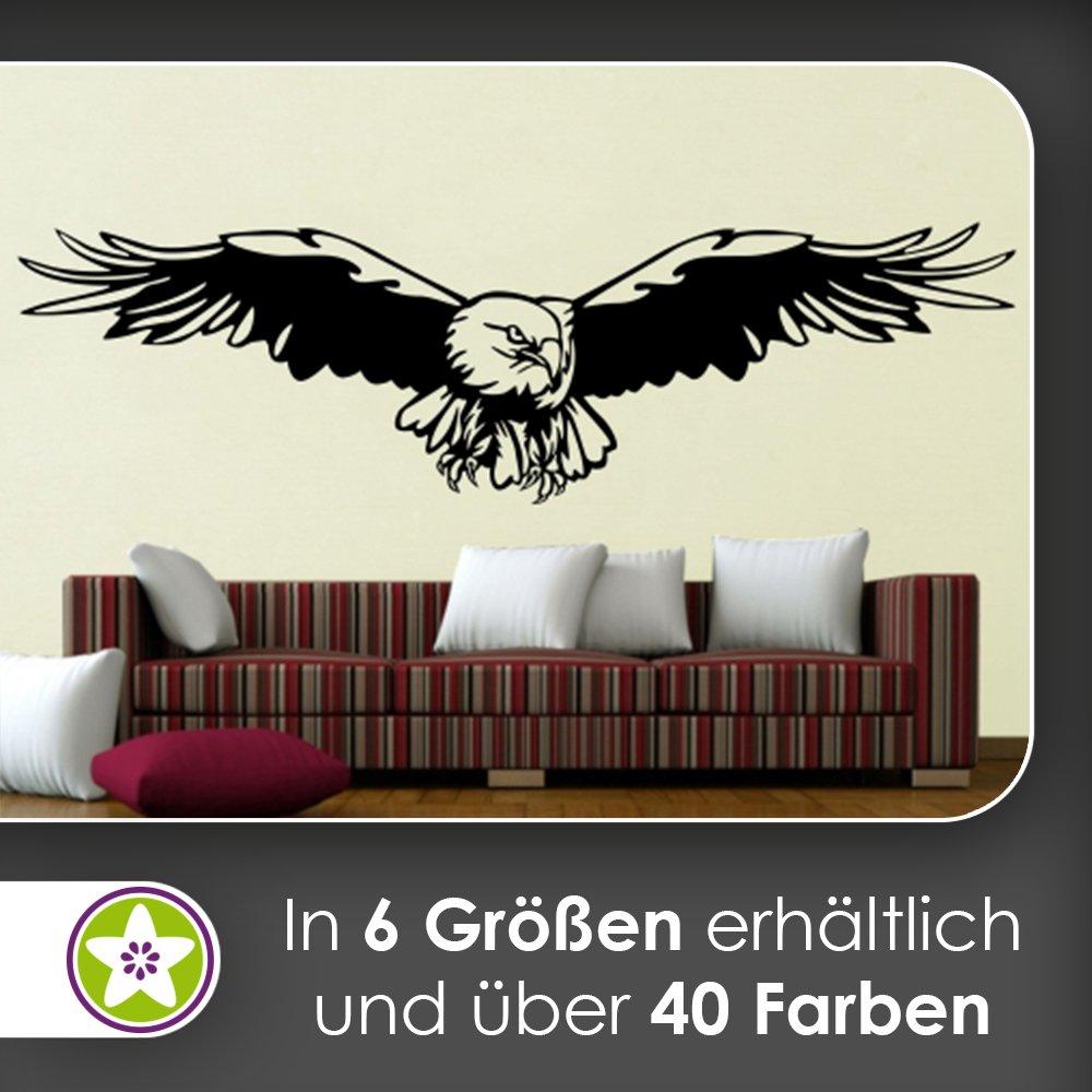 Kiwistar Adler Wandtattoo in 6 Größen - Wandaufkleber Wall Sticker B00RVW32SC Wandtattoos & Wandbilder