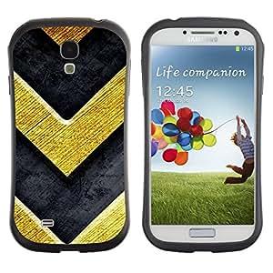 "Pulsar iFace Series Tpu silicona Carcasa Funda Case para SAMSUNG Galaxy S4 IV / i9500 / i9515 / i9505G / SGH-i337 , Chevron Bling del oro de la textura de metal cepillado"""