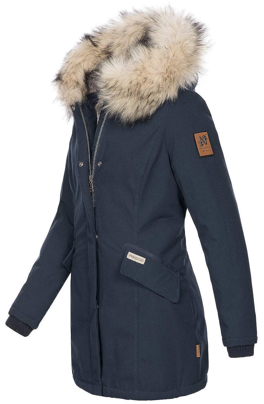 cb46a720caa44 Navahoo Damen Winter Jacke Parka Mantel Winterjacke warm Kunstfell Premium  B669: Amazon.de: Bekleidung