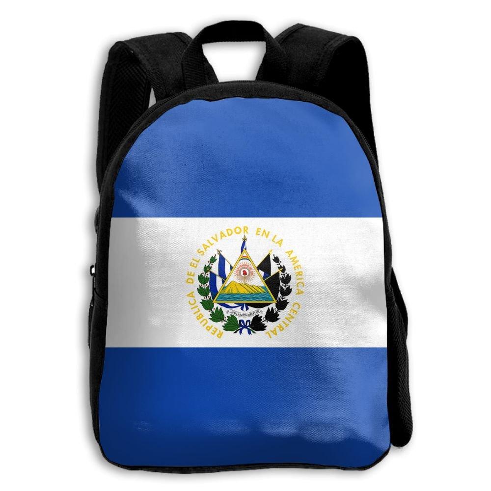 fidaljfエルサルバドルの国旗子供の3dプリントファスナー付き旅行バッグ学校バックパック   B07DN7FCGQ