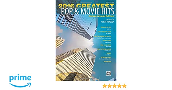 f708ca4dd760 2016 Greatest Pop   Movie Hits  Big Note Piano  Albert Mendoza   9781470633462  Amazon.com  Books