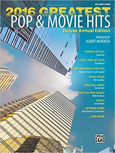 1f969544251d 2016 Greatest Pop   Movie Hits  Big Note Piano  Albert Mendoza ...