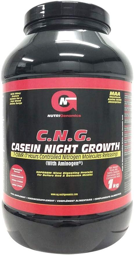 Nutrigenomics C.N.G. CASEIN NIGHT GROWTH - fresa - 1kg ...