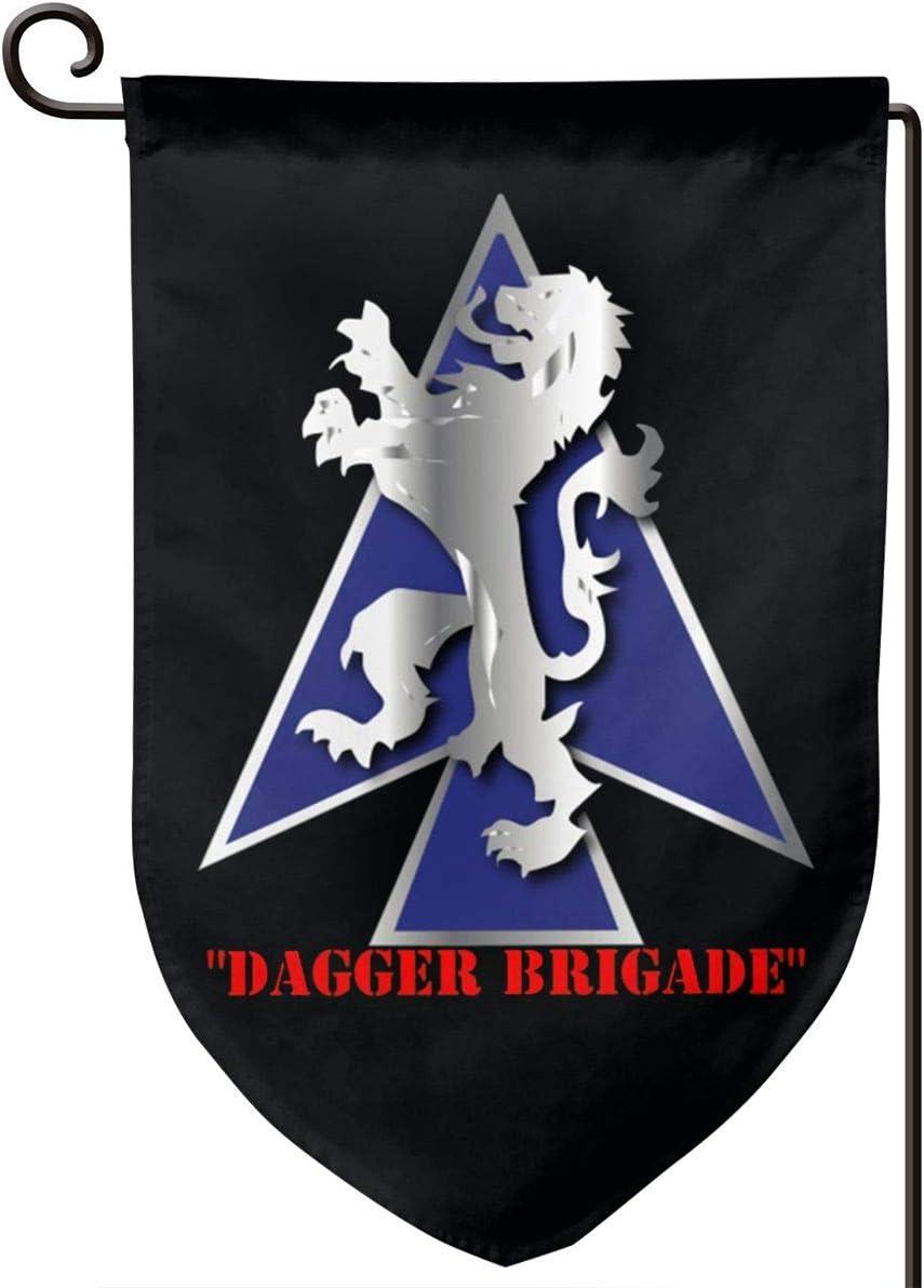 "Motr 2nd BDE Combat Tm Dagger Brigade 1st Id V1 12.5"" X 18"" Garden Flag,Garden Decoration Flag,Yard Home Flag Double Sided"