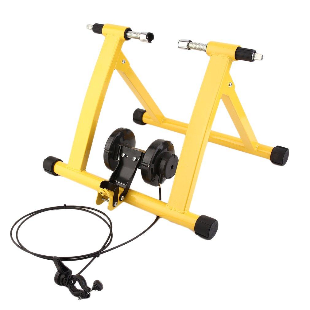 TataYang Heavy Duty Turbo Trainer Magnético Interior Bicicleta Entrenador Variable Resistencia Bicicleta Trainer (Amarillo)