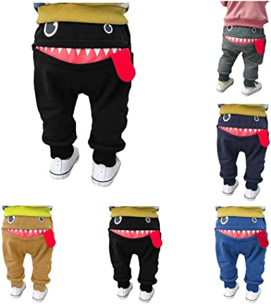 Cute baby or toddler pants. White harem pants with black dots and watermelon