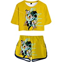 Hifoda Camiseta y Pantalones Cortos My Hero Academia Niña Conjuntos de Ropa Deportiva para Amantes del Anime