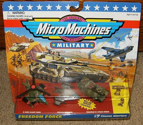 Combat Force Micro Helicopter - Micro Machines Photon Warriors #7 Military Collection