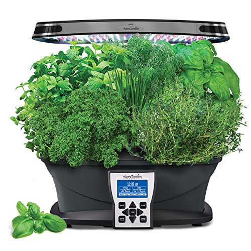 AeroGarden Ultra (LED) with Gourmet Herb Seed Pod Kit (Herb For Ideas Patio Garden)