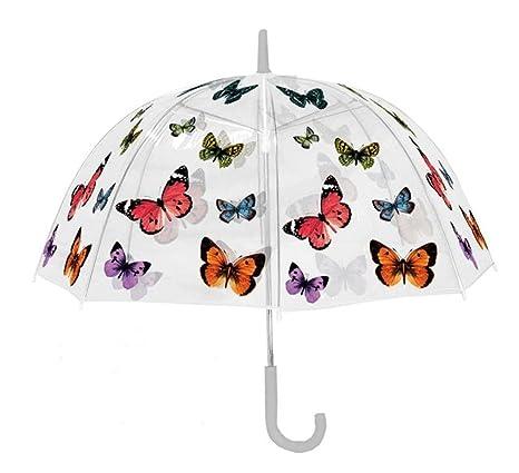 Paraguas Automático Transparente mariposas