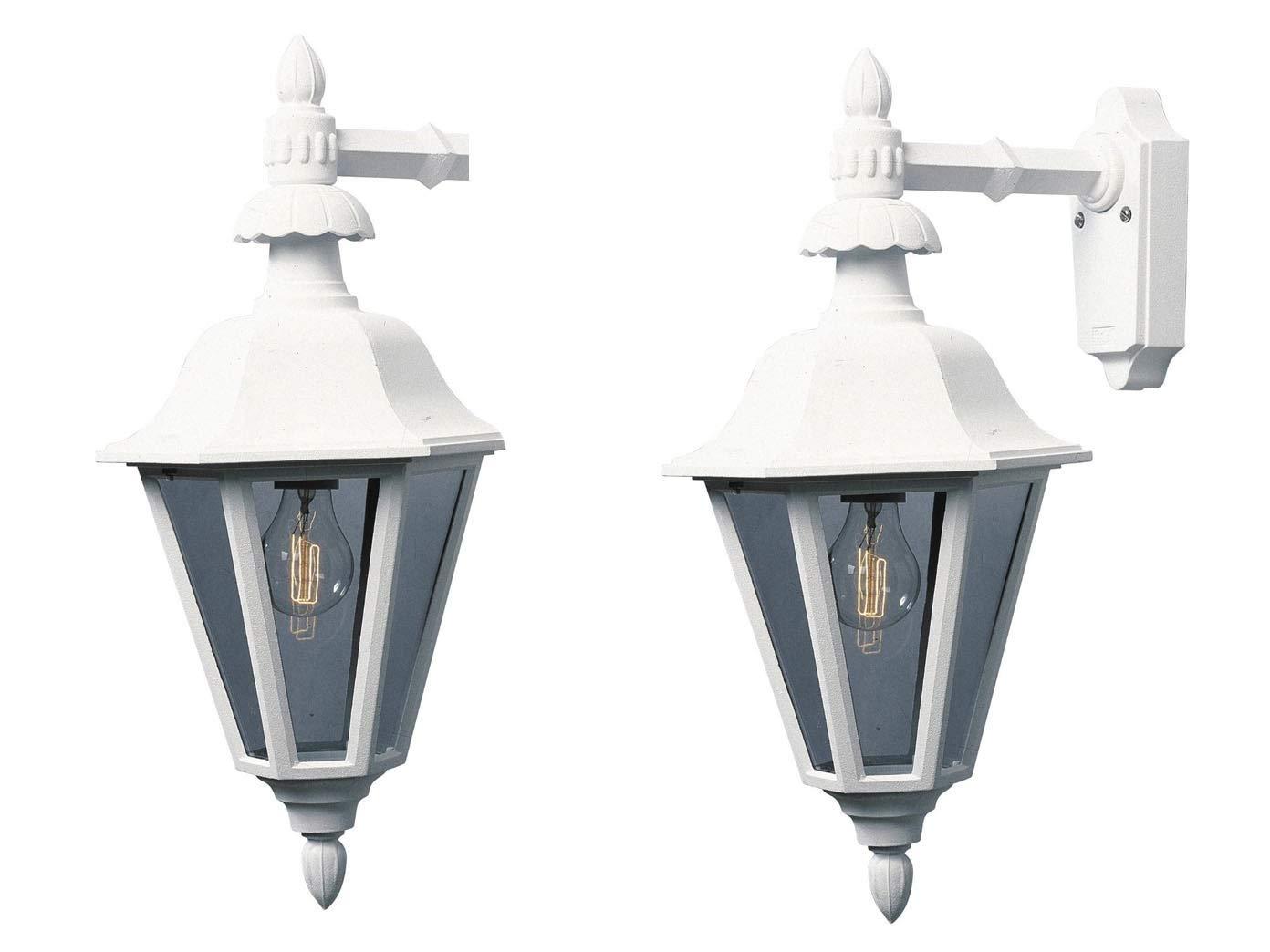 Konstsmide set di 2 per esterni in alluminio bianco vetro acrilico