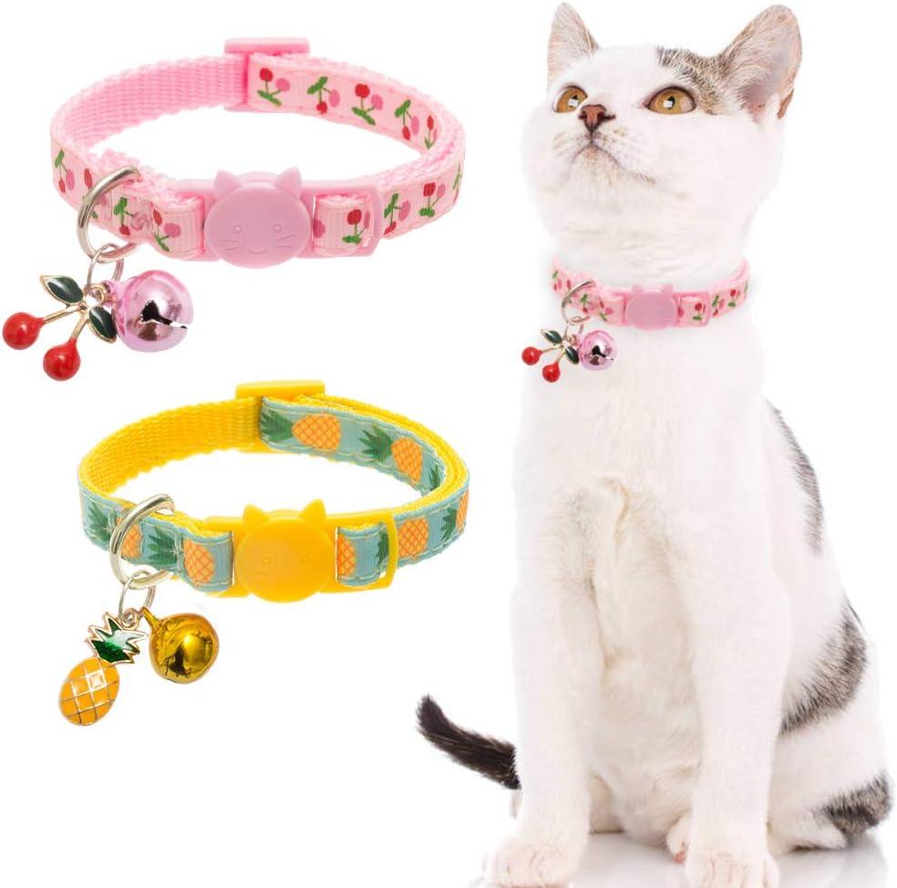 FANGXUEPING Suministros para Mascotas Gato Collar De Perro Grande Cintur/ón De PU Di/ámetro De Campana Grande 4 Cm Accesorios Lindos De Correa Usable M Campana Azul Celeste