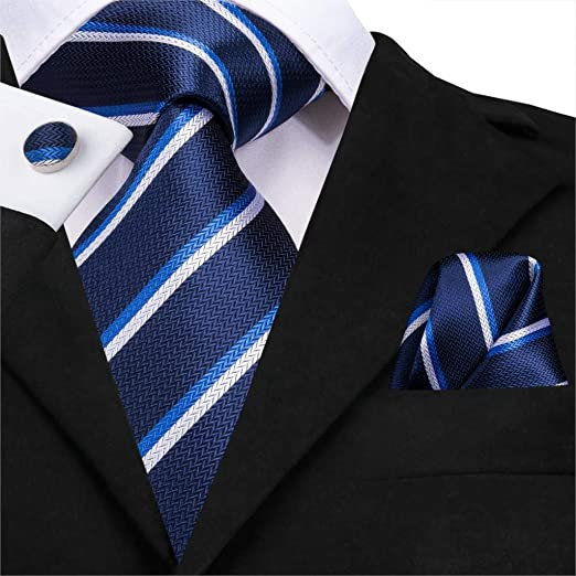 HYCZJH Conjunto de Corbata de Seda Tejida para Hombre Corbata de ...