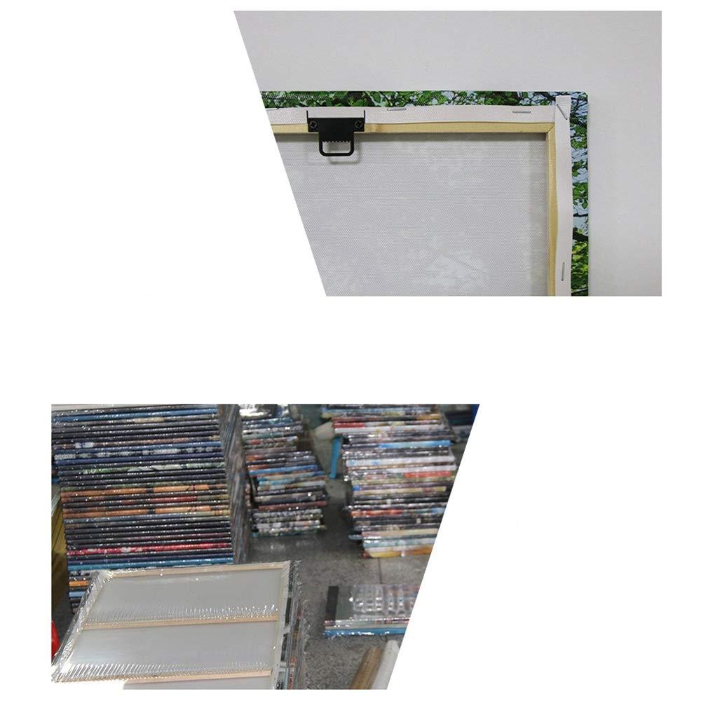 LJFYXZ Decoraci/ón De Arte De Pared Imprime Le/ón de Color Decoracion de Fondo Arte Abstracto Dormitorio Sala de Estar Lona Impermeable Conjunto de 5 Piezas Color : Frameless, Tama/ño : 25x50cm
