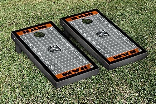 Ram Trucks Regulation Cornhole Game Set Football Version by Victory Tailgate