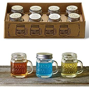 Amazon Com Barbuzzo Mason Jar Shot Glasses 4 Pack
