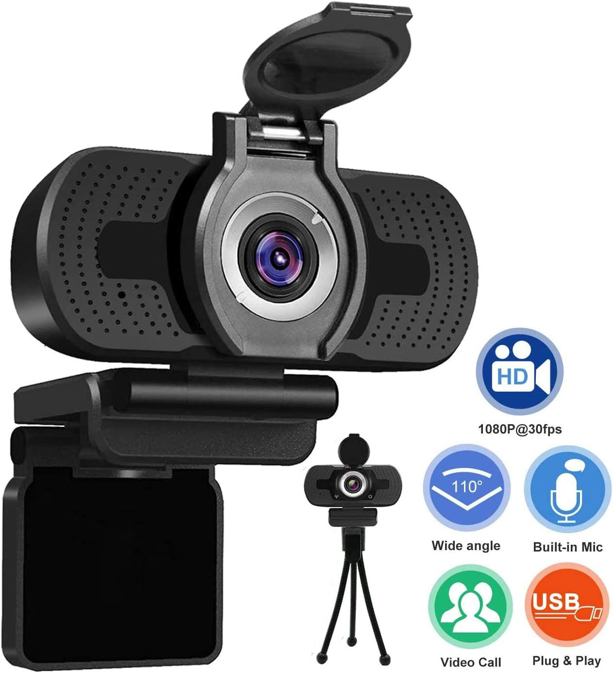 Mini USB 2.0 PC Camera HD Webcam Camera Web Cam For Laptop Desktops EP