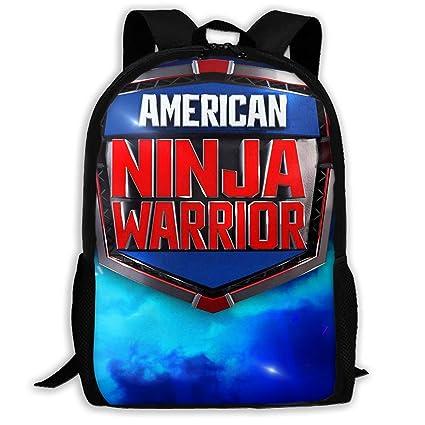 Amazon.com: PcldLoeE-00 School Backpack American Ninja ...