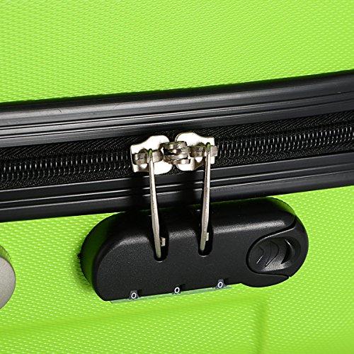 Goplus 3 Pcs Luggage Set Hardside Travel Rolling Suitcase ABS Globalway (Green) by Goplus (Image #5)
