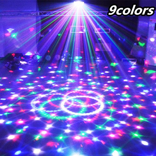 solar garden. Laser Light 9 Colors 27W Crystal Magic Ball Led Stage Lamp 21 Mode Disco Laser Light Party Lights Sound Control DMX Lumiere Laser ()