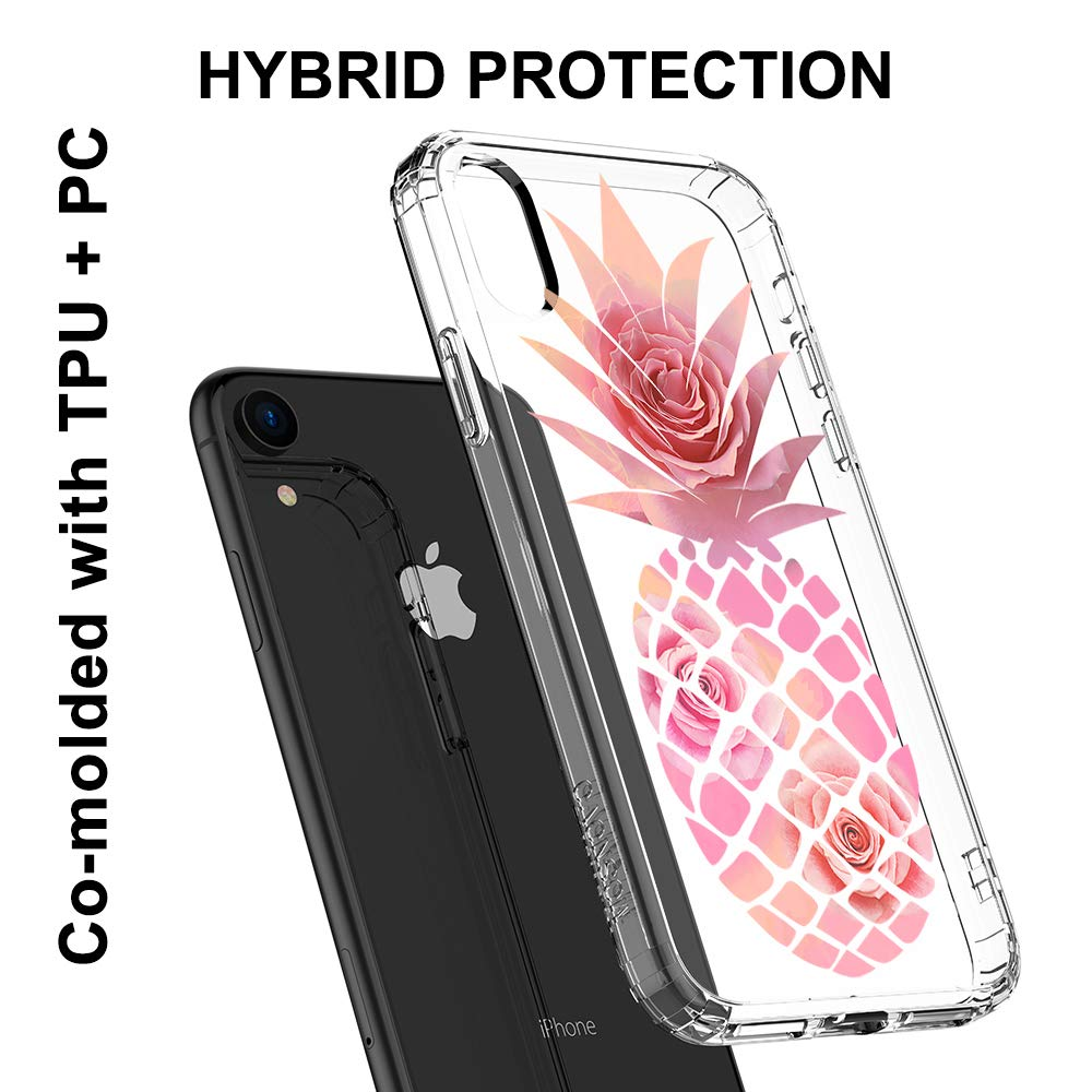 Clear iPhone XR Case MOSNOVO iPhone XR Case Tropical Cactus Cacti Succulents Pattern Clear Design Transparent Plastic Hard Back Case with Soft TPU Bumper Protective Case Cover for Apple iPhone XR