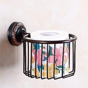 T-YSPJ Juego de colgantes de baño negro Juego de toallas retro europeo colgante para toallas juego de cobre, cesta de papel: Amazon.es: Bricolaje y ...