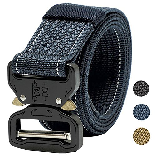 KEEPGOO Web Belt,Plus Size 47-65 Mens Tactical Military Nylon Belt Big and Tall
