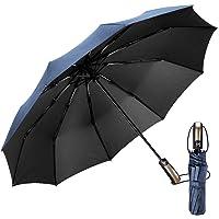 EMAGIE Paraguas Automático de Viaje Paraguas Plegable Grande de Golf Sombrilla de Viaje Protección UV Paraguas para lluvia Anti-Viento Portátil Compacto Seca Rápido 46 Pulgadas