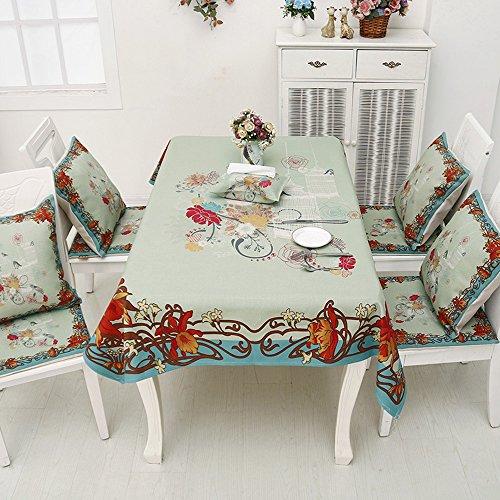 A 140200cmdining table Beau Nappe imprimée peinte à la main et au coton et au coton Tissu en tissu Tissu rond en tissu Manteaux maison Toile seule (4 couleurs en option) (taille facultative) durable