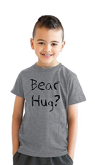 e9b0e27e9 Youth Grizzly Bear T Shirt Funny Bear Hug Shirt Humorous T Shirt Novelty  Tees (Grey