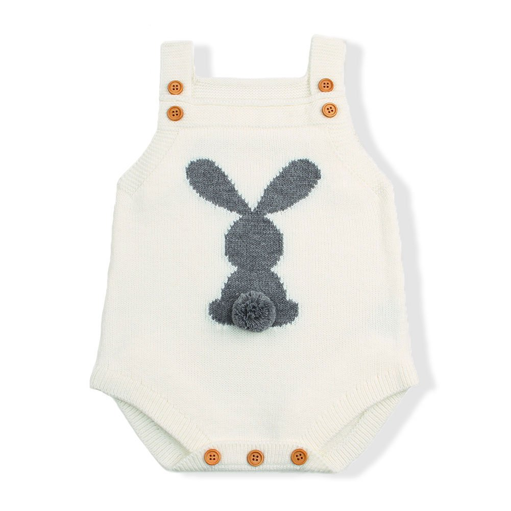 mimixiong Baby Romper Girl boy Easter Bunny Jumpsuit Outfits Clothes