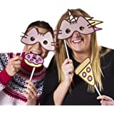 Pusheen The Cat Photobooth Kit - 24 card props, 30 prop straws and sticky pads