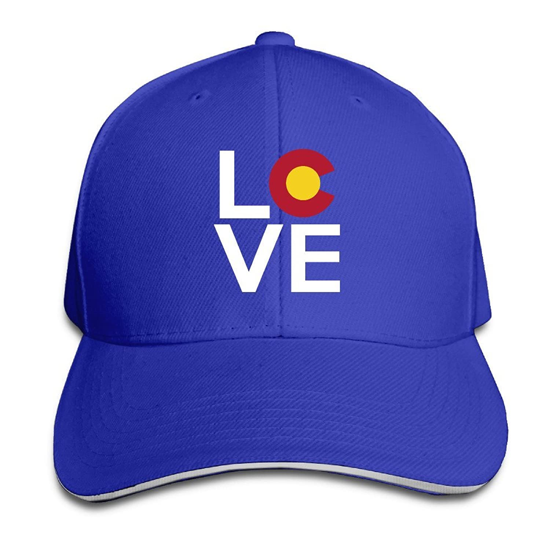 Cute Colorado Love Adjustable Flat Caps Unisex Sandwich Hats
