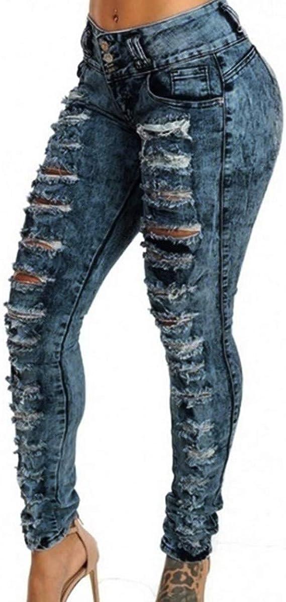 Luckycat Vaqueros Jeans Push up Vaqueros Elasticos Mujer Cintura ...