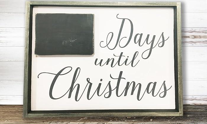 christmas countdown sign christmas countdown chalkboard christmas signs wooden christmas signs decor - Wooden Christmas Signs