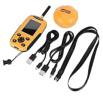 Zerone TL95E Buscador de Peces inalámbrico Localizador de Pesca con Sensor ultrasónico 125 KHz 131 pies