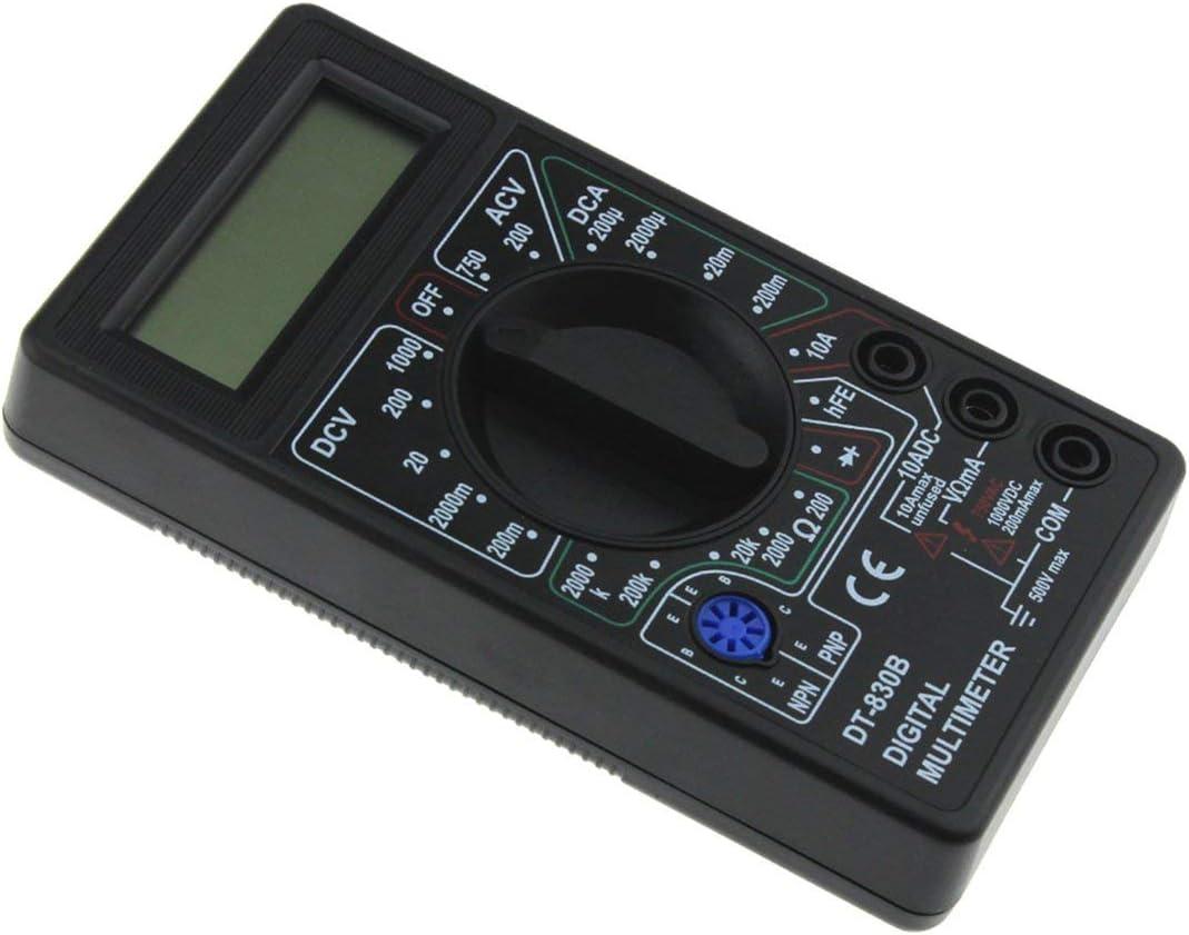 Black nbvmngjhjlkjlUK DT-830B Mini Pocket Digital Multimeter 1999 Counts AC//DC Volt Amp Ohm Diode hFE Tester Ammeter Voltmeter Ohmmeter