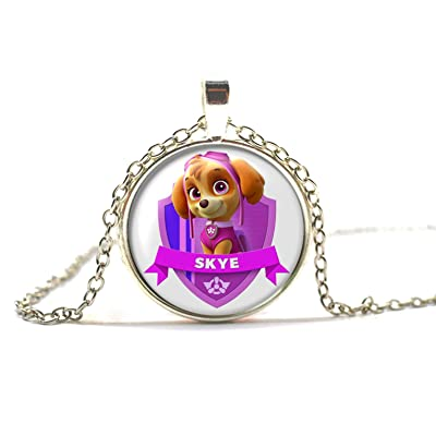 Girl Paw Patrol Skye Silver Pendant Necklace: Jewelry