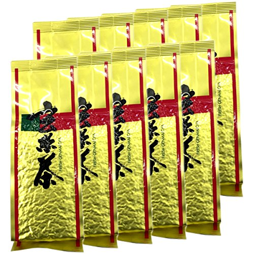 Japanese Tea Shop Yamaneen Brown Rice-Tea Tea-Leaf With Black-Soybeans 200G x 10packs by Japanese Tea Shop Yamaneen