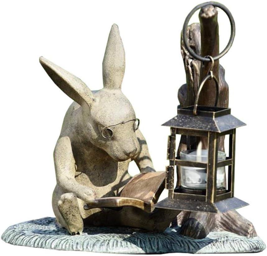 SPI Booklover Rabbit Garden Lanter