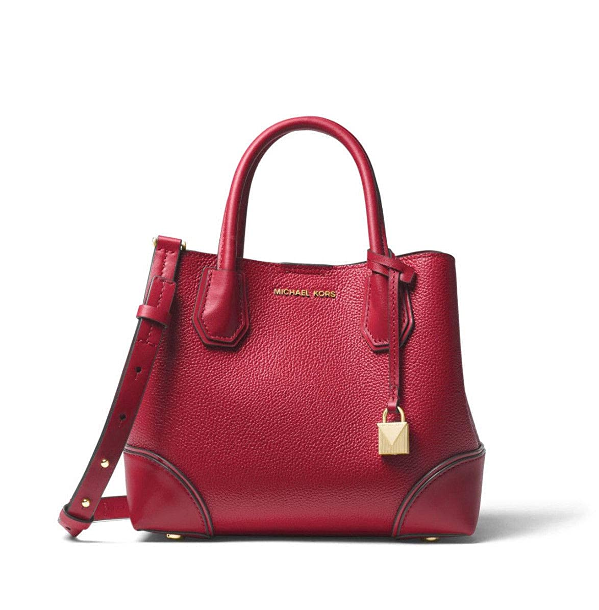 0176e738eed9 MICHAEL Michael Kors Mercer Gallery Small Pebbled Leather Satchel in Luxe  Teal  Handbags  Amazon.com