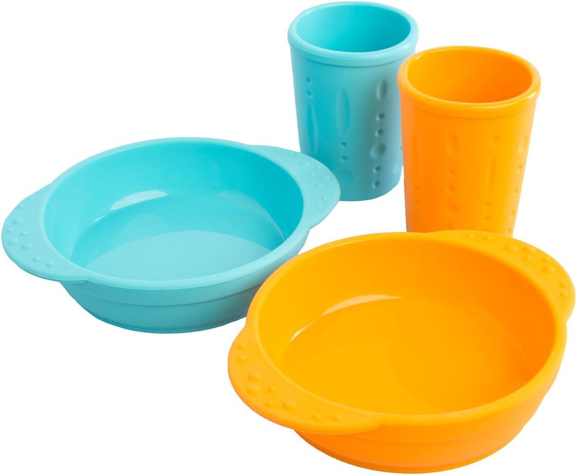 Kinderville - Juego de 4 tazas y cuencos para niños y bebés, aptos ...