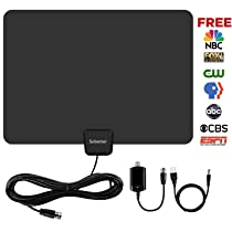 HDTV Antenna,Sobetter TV Antenna 50 Mile Range with Detachable Amplifier, USB power supply and 13.2ft Coax Cable,12 months warranty(New version,supports 1080p,4K,Full HD)
